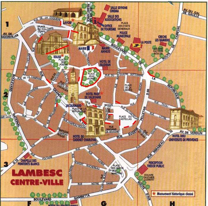 Plan Ville De Lambesc