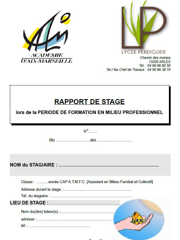 Aix marseille ressources cap atmfc biotechnologies for Rapport de stage en cuisine exemple
