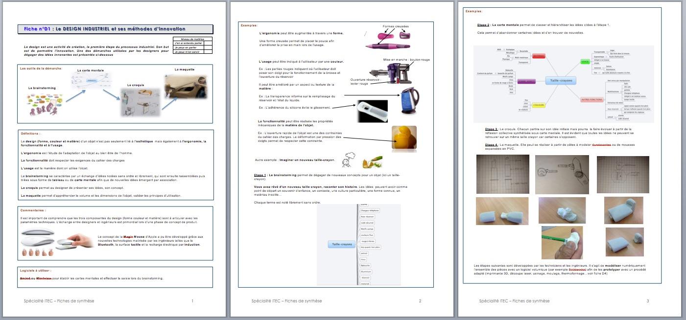 Aix marseille el ments de cours itec sti2d for Cours de design
