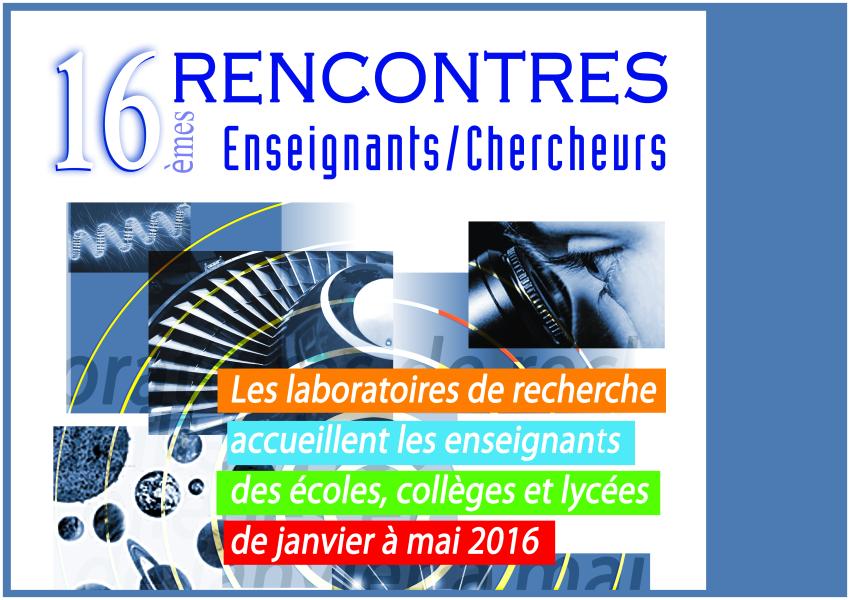Rencontre enseignant chercheur aix marseille 2016