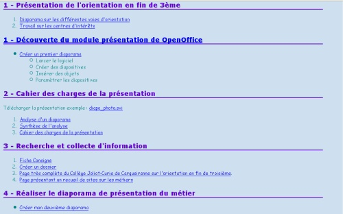 Aix marseille pour la troisieme technologie au coll ge - Faire un sommaire sur open office ...