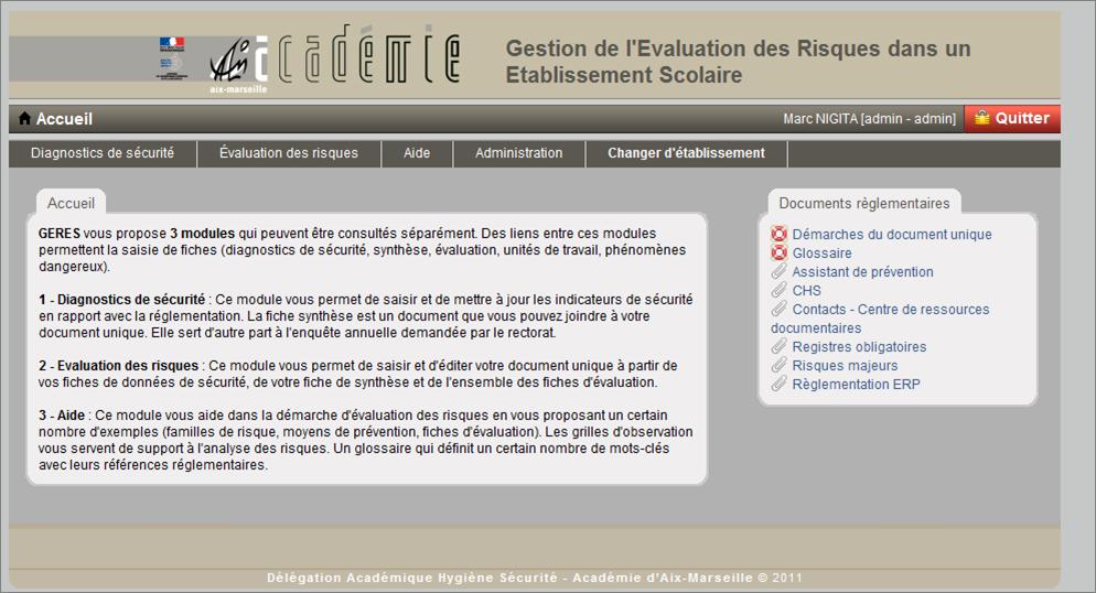 Aix marseille document unique s curit hygi ne et - Grille d evaluation des risques professionnels ...