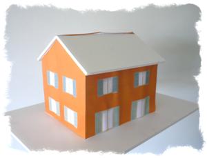 Patron maquette maison en papier ventana blog for Maison en papier a construire